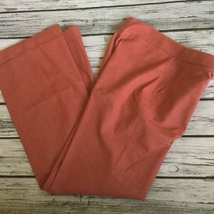 J Crew Favorite Fit Salmon Pink Wool Blend Pants 8